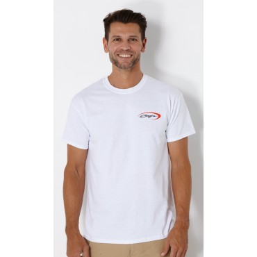 Baja Logo T-Shirt White w/ Orange Swoosh